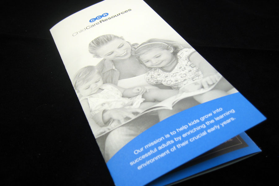 Child Care Resources Brochure Design Cover
