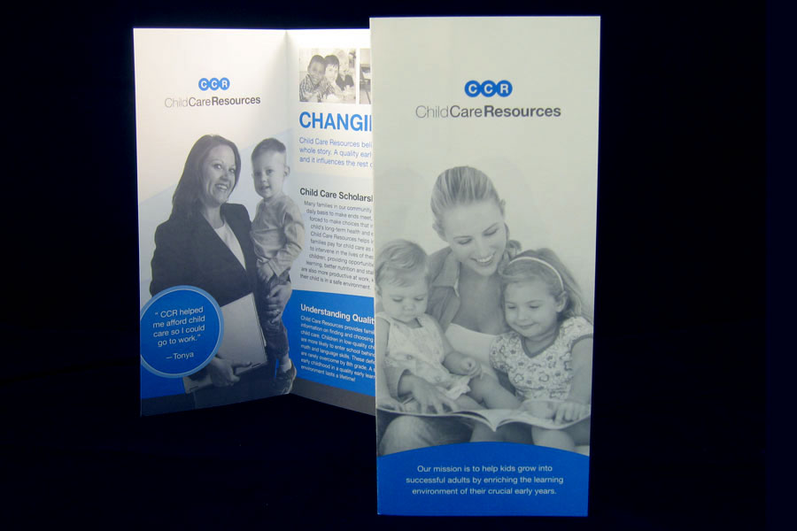 Child Care Resources Brochure Design Spread