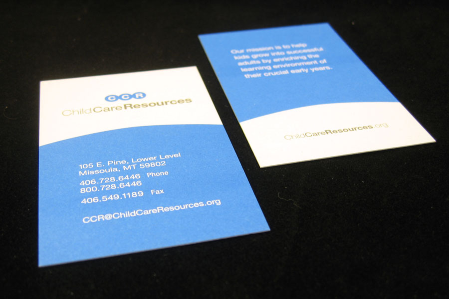 Child Care Resources Business Card Design
