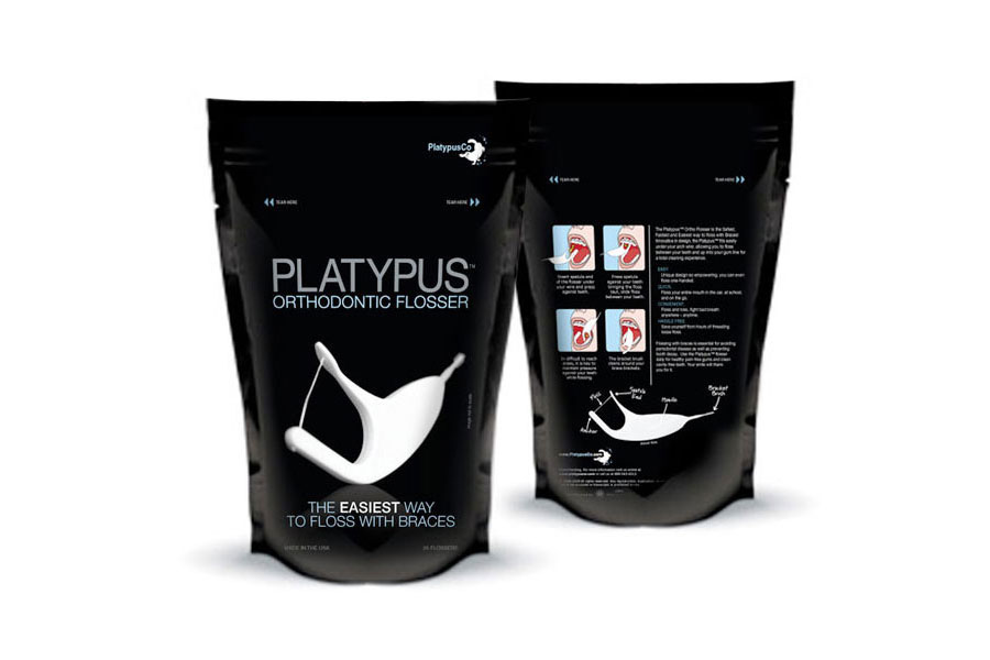 Platypus Dental Flosser Package Design