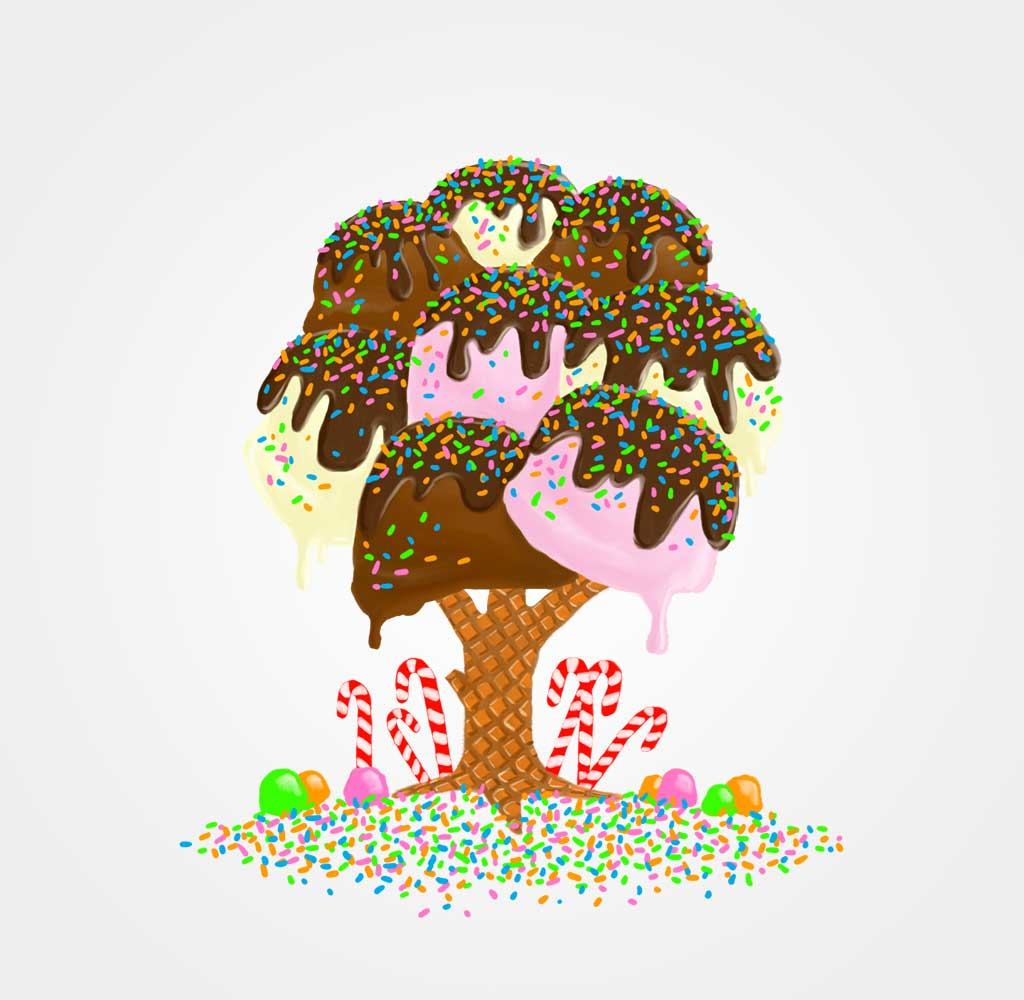 Organic Ice Cream Tree