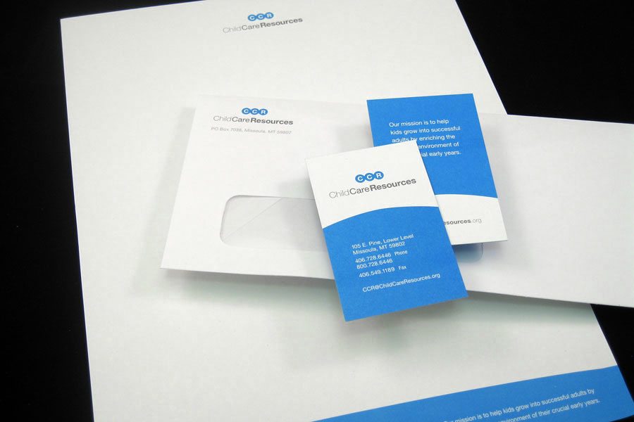 Child Care Resources Stationery Design