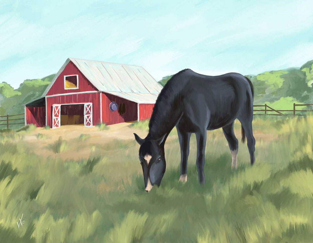 Commissioned Horse Painting