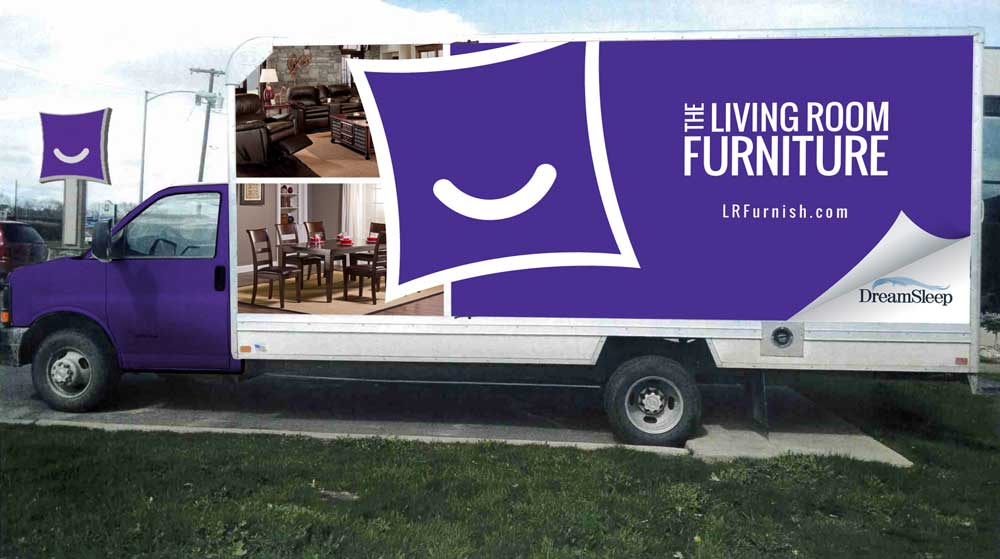 The Living Room Furniture Truck Wrap